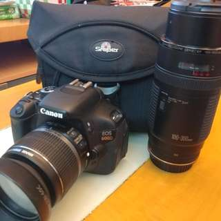 Canon 600d With 2 Lens