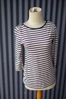 Atasan Long Sleeve Stripe Putih
