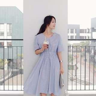 Brenda Blue Midi Summer Dress