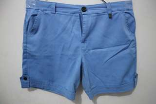 Short pants hot pants biru