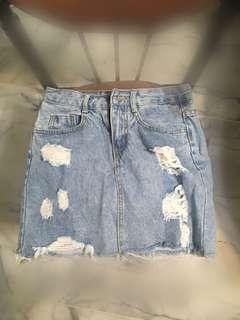 牛仔短裙(S)