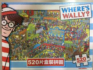520 PIECES拼圖Puzzle(where's Wally? & 精靈寶可夢)