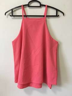 (Clearance) BN Halter Neck Top in Coral