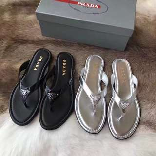 Prada 拖鞋❤️ 黑色/銀色❕來自越南代工廠❕❕