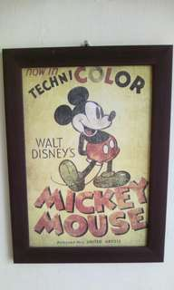 Old poster Mickey mouse