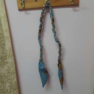 🚚 小清新藍色鏈條鋁線髮帶