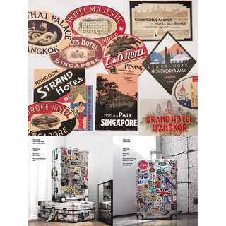 Vintage Style Travel / Luggage Stickers