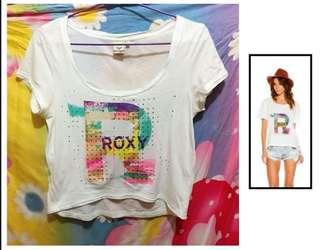 Roxy 白色短袖衫 M碼 二手 tee t恤 D款 沙灘 游泳配襯泳衣首選 100%real 女裝 (A)