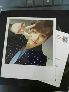 BTS PHOTOCARD: Jungkook Wings Polaroid