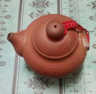 🚚 磚紅色手作茶壺盆栽器皿
