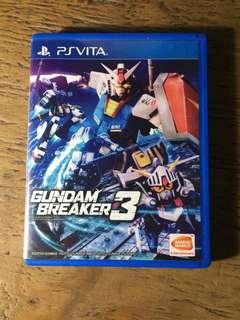 PS Vita game Gundam Breaker 3 R3