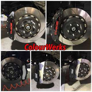 Rim Spraying, Brake Caliper Spraying, Carbon Fibre Relacquering, Interior & Exterior parts Spraying