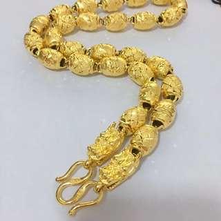 厚金仿真黄金项链