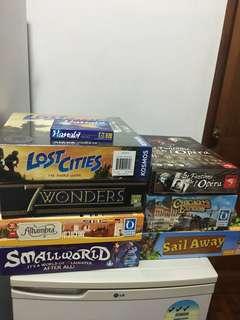 Selling various board games