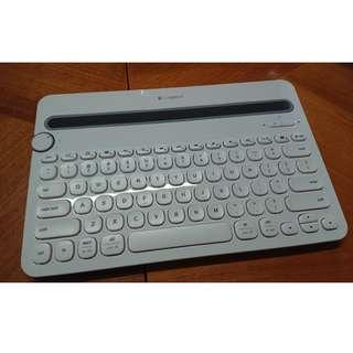 LOGITECH - K480 多功能藍牙鍵盤 (白)