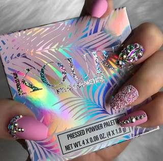 Instock Kylie X Kourt Eyeshadow Quad Palettes Blue Palette Pink Palette