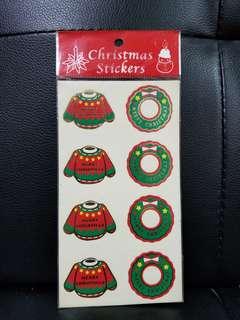 古董 聖誕貼紙 一張