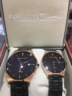 Couple set watch watches alexandre christie circle
