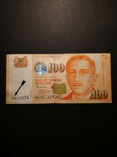 Singapore Portrait $100 0BE Replacement Notes