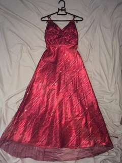 Glitter Red Gown