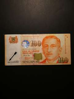 Singapore Portrait $100 0BF Replacement Notes