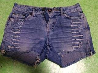 Ripped Maong Shorts