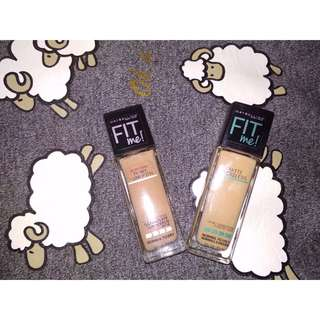 Foundation maybelline fit me