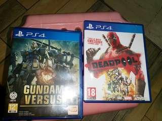 Deadpool,gundam versus, ps4gmae