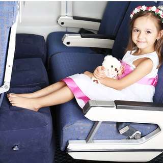 Perfect for travelling with kids**Inflatable Footrest/pillow with 3 adjustable height