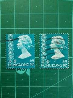 [移位]1973 伊莉莎白二世第三組通用票 肆角移位舊票