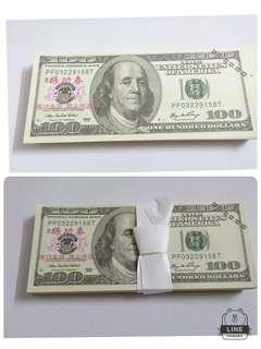 美元一百元面額一扎