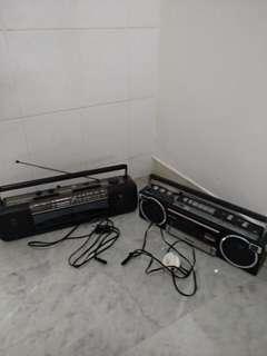 Vintage Radios (National, Aiwa)