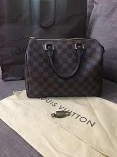 Louis Vuitton AUTHENTIC  speedy 25 Damier Ebene