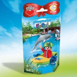 Playmobil 9412 Fun Park Pirate Kid with Dolphin