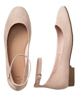 Pre-order: GAP ANKLE-STRAP FLATS