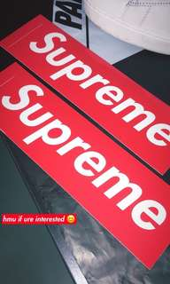 Supreme Box Logo Sticker x10