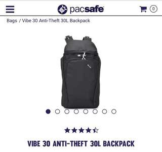 Pacsafe Vibe 30 anti thief 30l backpack