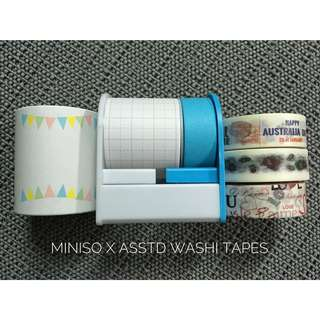 Miniso Paper Tape Set + Asstd Washi Tapes