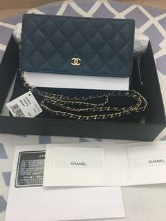 Chanel WOC Wallet on Chain Caviar leather with Gold Chain