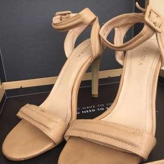 Padded Strap High Heel Sandals