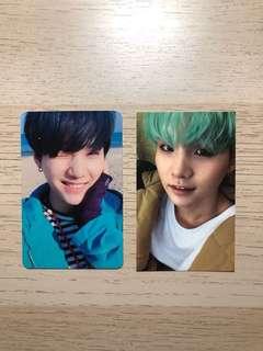 BTS suga photocards