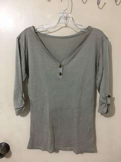 Gray Office Blouse