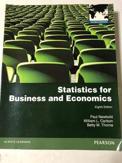 Statistics for Business and Economics(Pearson)