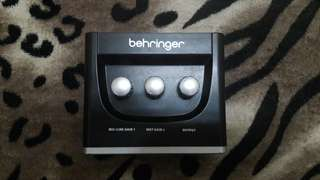 (Audio Interface) Behringer UM2 recording with BOX