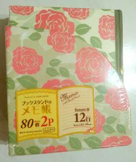 BNIW Daiso Floral Memo with Book Stand