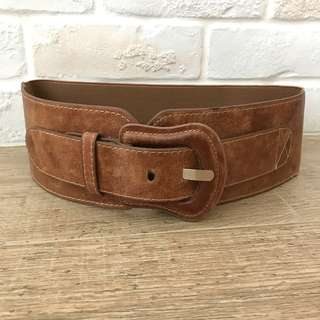 vintage buckled wide waist belt