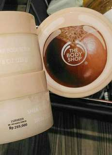 the body shop shea body scrub 200gr