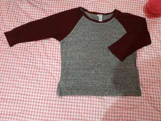 Long Sleeve Red&Gray F21