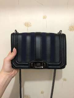 Rebeccaminkoff stripe small love crossbody