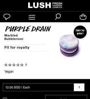 Lush Purple drain marbled bubbleroon